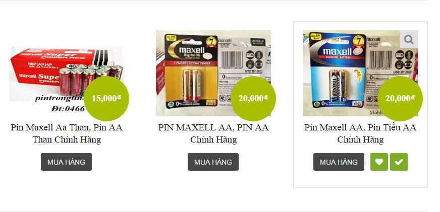 Pin maxell giá rẻ