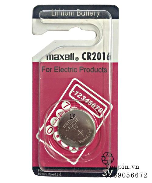 Pin maxell lithium cr2016