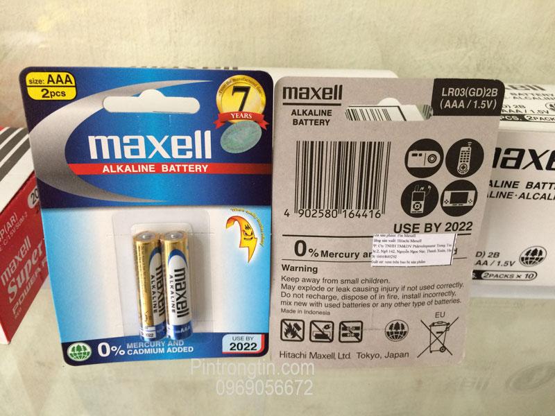 Pin maxell aaa chính hãng