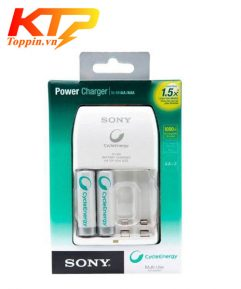 Bộ sạc Pin Sony chính hãng tặng kèm 2 Pin AA 2100mAh