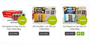 Pin maxell chính hãng
