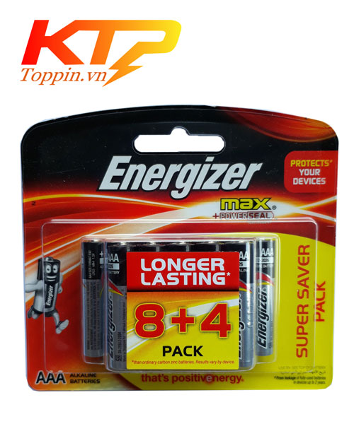 Pin Energizer AAA alkaline vỉ 12 viên